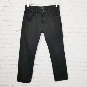 Citizens Of Humanity|Black Slim Straight Jeans